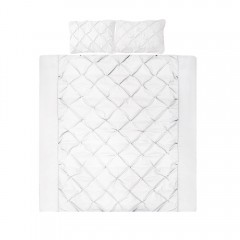 King 3-piece Quilt Set White