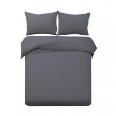 Queen 3-piece Quilt Set Charcoal