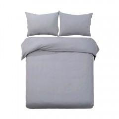 Super King 3-piece Quilt Set Grey