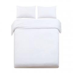 Super King 3-piece Quilt Set White