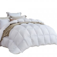 Lightweight Duck Down Feather Quilt Super King White