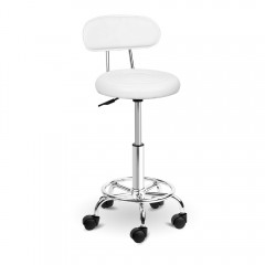 Pu Leather Swivel Salon Stool White