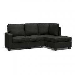 Artiss Sofa Lounge Set 4 Seater Modular Chaise Chair Couch Fabric Dark Grey