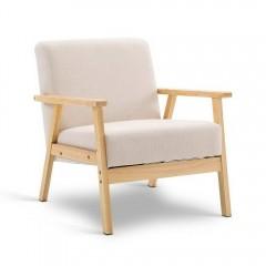 Fabric Dining Armchair Beige