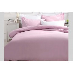 Queen Size Pink Quilt Cover Set (3pcs)