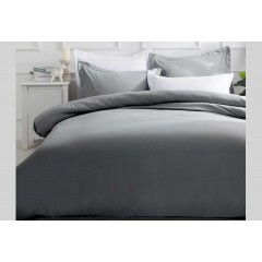 Single Size Slate Color Quilt Cover Set (2pcs)