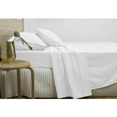 Queen Size 3000tc Cotton Rich Sheet Set (white Color)