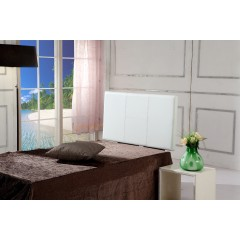 Pu Leather Single Bed Headboard Bedhead - White