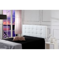 Pu Leather Queen Bed Deluxe Headboard Bedhead - White