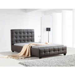 King Single Pu Leather Deluxe Bed Frame Brown