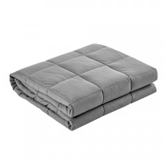 Giselle Bedding 9kg Cotton Weighted Blanket Heavy Gravity Deep Relax Adult Light Grey