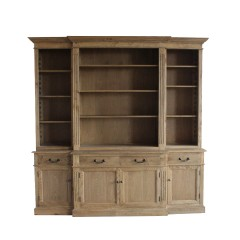 French Provincial Furniture Bookcase Cabinet Oak