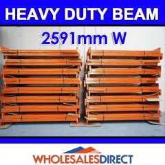 Pallet Racking Beam 2591mm 3195kg Heavy Duty
