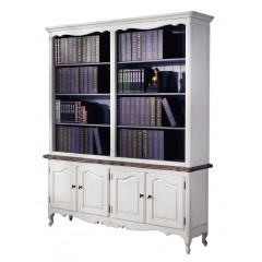 French Provincial Furniture White Bookcase
