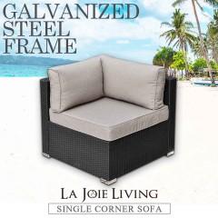 La Joie Outdoor Living Single Corner Modular Sofa Rattan Furniture Lounge