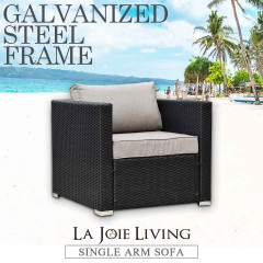 La Joie Outdoor Living Single Arm Modular Sofa Rattan Furniture Lounge