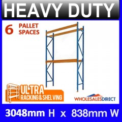 ULTRA 3048mm Dexion Compatible Pallet Racking 6 Space Package