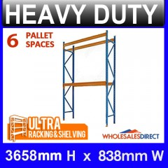 Pallet Racking System 3658mm High 6 Pallet Spaces