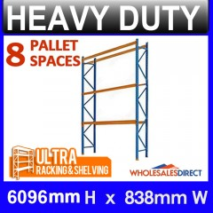 ULTRA 6096mm H Dexion Compatible Pallet Racking 8 Space Package