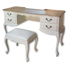 French Provincial Furniture White Dressing Table Set