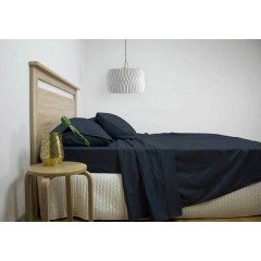 King Size 2500tc Cotton Rich Sheet Set (navy Color)
