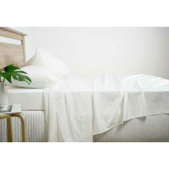 King Size 2500tc Cotton Rich Sheet Set (white Color)