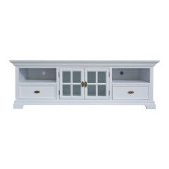Hamptons Halifax White TV Unit Entertainment Stand