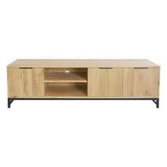 Detroit Industrial Loft Oak Entertainment Unit TV Stand