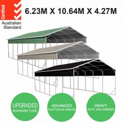 Carport 6.2 x 10.6 x 4.3 m Vehicle Shelter