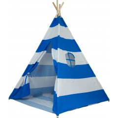 Large Cotton Canvas Stripe Teepee Kid Tent Indoor Playhouse Wigwarm