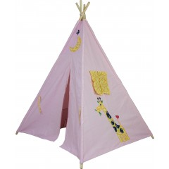 Large Cotton Canvas Animal Teepee Kid Tent Indoor Playhouse Wigwarm