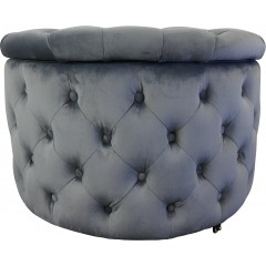 Tabitha Round Chesterfield Tufted Pouffe Storage Ottoman Foot Stool