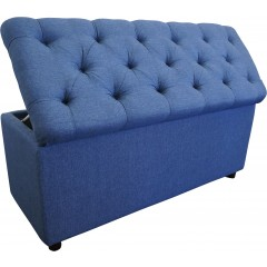 Sonya Chesterfield Tufted Storage Ottoman Blanket Box Foot Stool