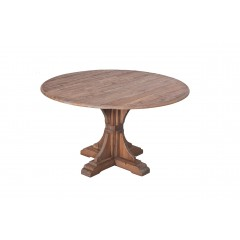 French Provincial Provence Rustic Pedestal 135cm Dining Table