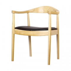 Set of 2 Replica Hans Wegner Elbow Dining Arm Carver Chair – Natural Oak or Dark Brown