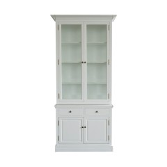 Hampton Halifax 2 Glass Door Hutch Display and Buffet Cabinet Cupboard
