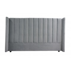 Isla King Upholstered Winged Bed Headboard