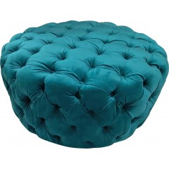 Kartini Large Round Chesterfield Tufted Pouffe Ottoman