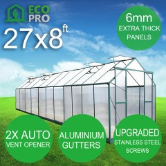 Genuine EcoPro 27 x 8ft  Greenhouse - 6mm Panels
