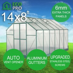 EcoPro Greenhouse 14 x 8ft - 6mm Panels