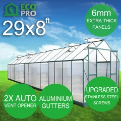 Genuine 29 x 8ft EcoPro Greenhouse - 6mm Panels