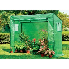 EcoPro 200 x 78 x 150cm Walk-in Tunnel Greenhouse PE Cover Tomato Plant Garden Green Shade