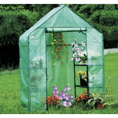 EcoPro 143 x73 x 195cm Walk-in Tunnel Greenhouse PE Cover Plant Garden Shade