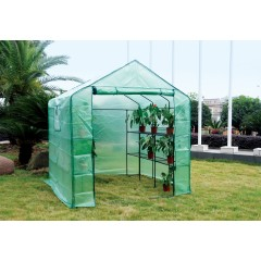 Eco Pro 200x200x200cm Walk in Tunnel Greenhouse PE Cover Tomato Plant Garden Green Shade