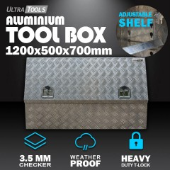 Aluminium Ute Tool Box 2.5mm 1200x500x700mm Side Opening Vehicle Storage