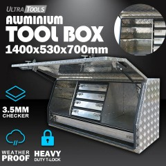 Aluminium Ute Tool Box 2.5mm 1450x530x700mm 5 Drawers Side Opening Vehicle Storage