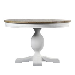 French Provincial 120cm Pedestal Round Dining Table