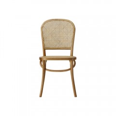 Luca Set of 2 Rattan Dinning Chair Black Natural