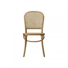 Luca Set of 2 Rattan Dinning Chair Black Natural