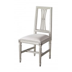 French Provincial Furniture Dining Chair in Pearl White